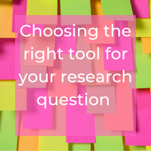 Invitation to choosing the right tool for your research